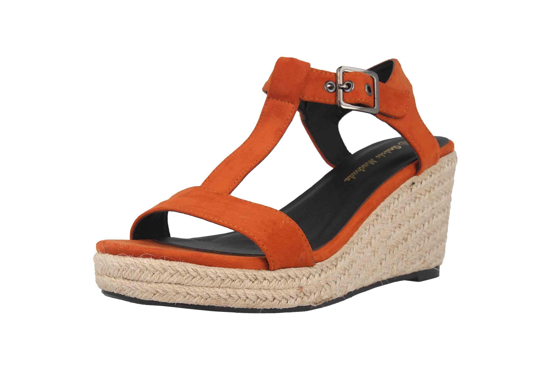 Andres Machado Sandaletten in Übergrößen Orange AM5343 Ante Naranja große Damenschuhe – Bild 6
