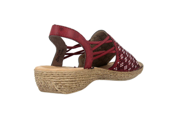 Rieker Sandalen in Übergrößen Rot 658B2-35 große Damenschuhe – Bild 3