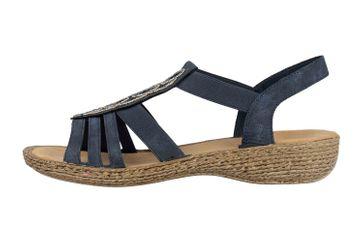 Rieker Sandalen in Übergrößen Blau 658CO-14 große Damenschuhe – Bild 1