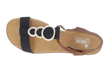 Rieker Sandaletten in Übergrößen Blau 64278-16 große Damenschuhe – Bild 7
