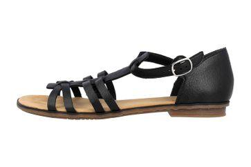 Rieker Sandaletten in Übergrößen Schwarz 64288-01 große Damenschuhe – Bild 1
