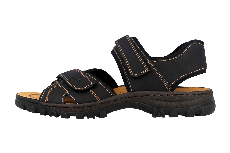 Rieker Sandalen in Übergrößen Schwarz 25051-01 große Herrenschuhe – Bild 1