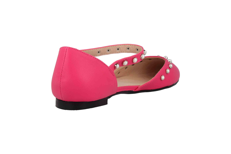 Andres Machado Ballerinas in Übergrößen Pink AM5359 Soft Fucsia große Damenschuhe – Bild 3