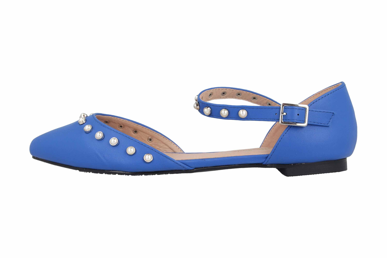 Andres Machado Ballerinas in Übergrößen Blau AM5359 Soft Azulon große Damenschuhe – Bild 1
