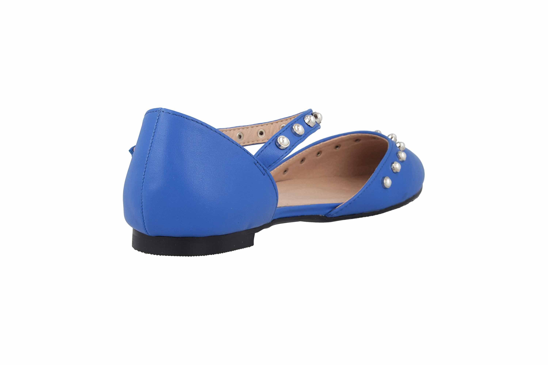 Andres Machado Ballerinas in Übergrößen Blau AM5359 Soft Azulon große Damenschuhe – Bild 3