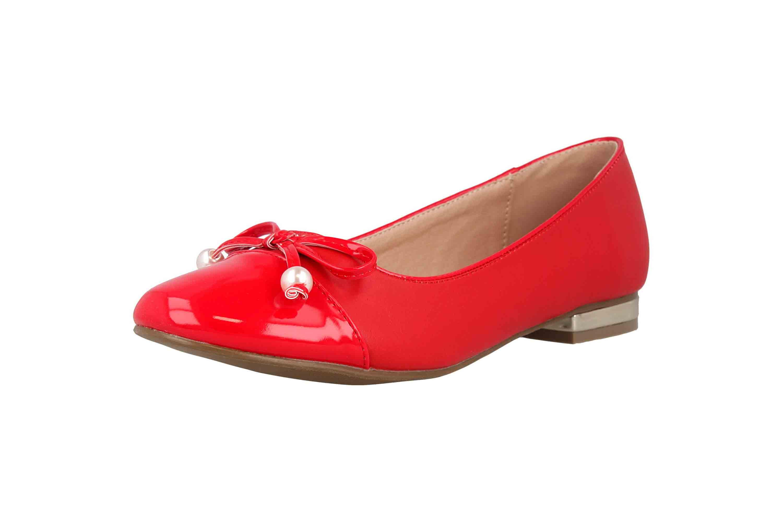 Andres Machado Ballerinas in Übergrößen Rot AM5338 Soft Rojo große Damenschuhe – Bild 6