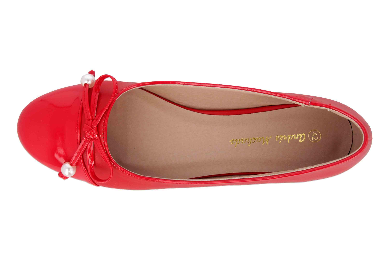 Andres Machado Ballerinas in Übergrößen Rot AM5338 Soft Rojo große Damenschuhe – Bild 7