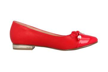 Andres Machado Ballerinas in Übergrößen Rot AM5338 Soft Rojo große Damenschuhe – Bild 4