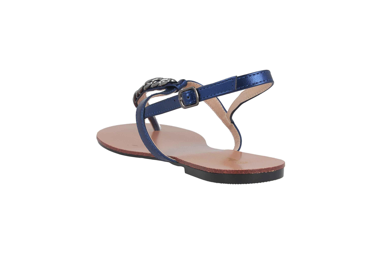 Andres Machado Sandalen in Übergrößen Blau AM5355 Brillo Azulon große Damenschuhe – Bild 2