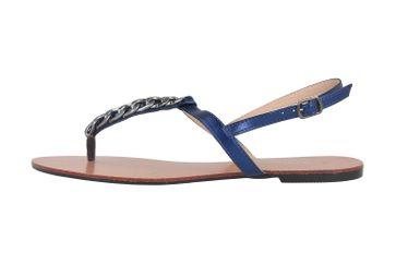 Andres Machado Sandalen in Übergrößen Blau AM5355 Brillo Azulon große Damenschuhe – Bild 1