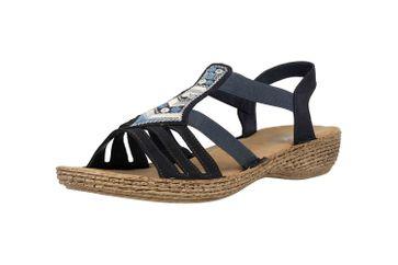 Rieker Sandaletten in Übergrößen Blau 65807-14 große Damenschuhe – Bild 6
