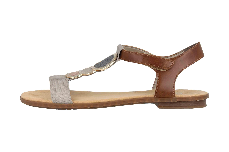 Rieker Sandaletten in Übergrößen Grau 64278-42 große Damenschuhe – Bild 1