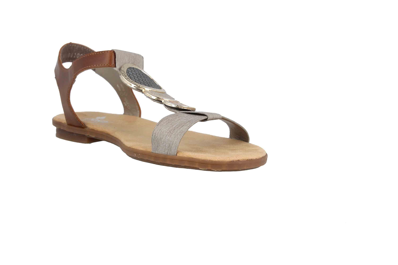 Rieker Sandaletten in Übergrößen Grau 64278 42 große Damenschuhe
