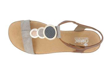 Rieker Sandaletten in Übergrößen Grau 64278-42 große Damenschuhe – Bild 7