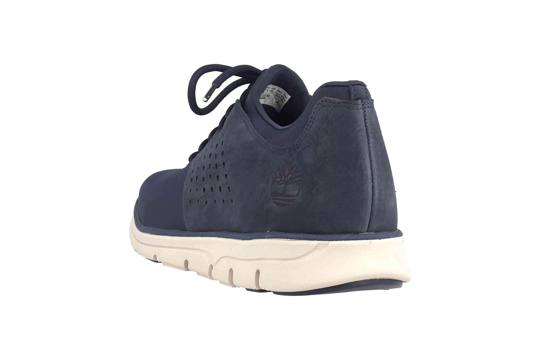 Timberland Bradstreet Fabric/Leather Oxford BLACK IRIS Sneaker in Übergrößen Blau TB0A21DU0191 große Herrenschuhe – Bild 2