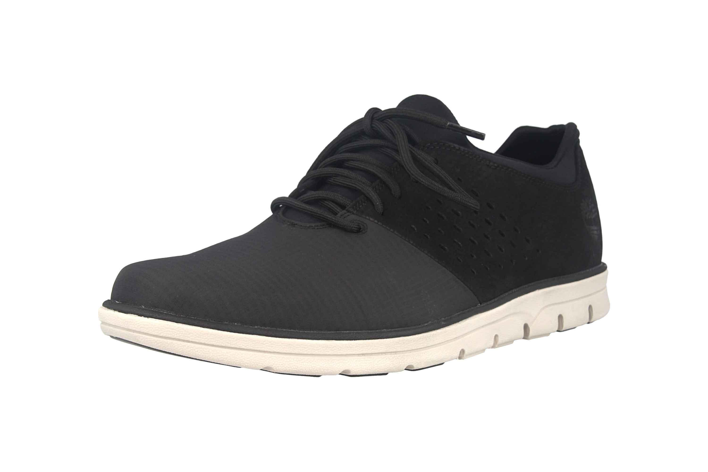 Timberland Bradstreet Fabric/Leather Oxford JET BLACK Sneaker in Übergrößen Schwarz TB0A21E60151 große Herrenschuhe – Bild 6