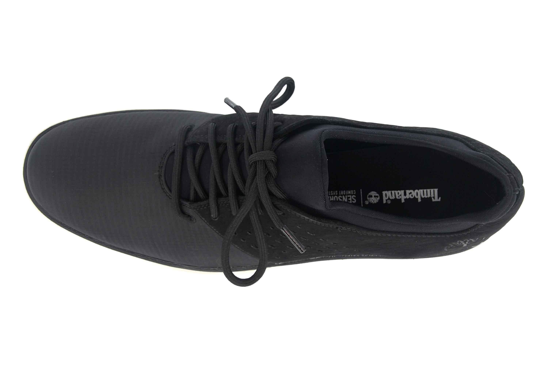 Timberland Bradstreet Fabric/Leather Oxford JET BLACK Sneaker in Übergrößen Schwarz TB0A21E60151 große Herrenschuhe – Bild 7