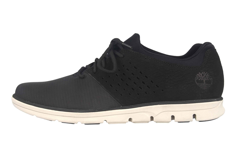 Timberland Bradstreet Fabric/Leather Oxford JET BLACK Sneaker in Übergrößen Schwarz TB0A21E60151 große Herrenschuhe – Bild 1
