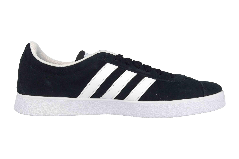 Adidas VL Court 2.0 Sneaker in Übergrößen Schwarz DA9887 große Damenschuhe – Bild 4