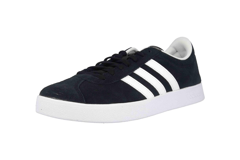 Adidas VL Court 2.0 Sneaker in Übergrößen Schwarz DA9887 große Damenschuhe – Bild 6