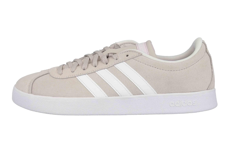 Adidas VL Court 2.0 Sneaker in Übergrößen Beige DA9888 große Damenschuhe