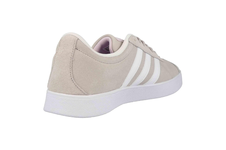 Adidas VL Court 2.0 Sneaker in Übergrößen Beige DA9888 große Damenschuhe – Bild 3
