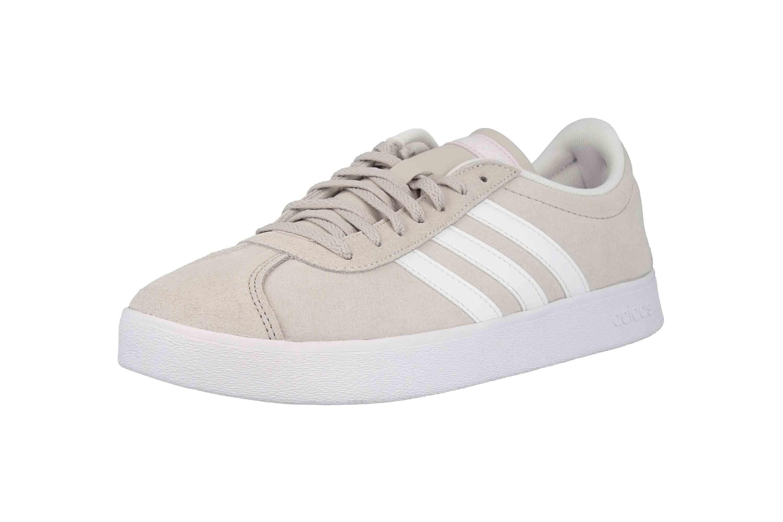 Adidas VL Court 2.0 Sneaker in Übergrößen Beige DA9888 große Damenschuhe – Bild 6
