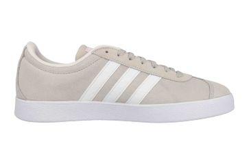 Adidas VL Court 2.0 Sneaker in Übergrößen Beige DA9888 große Damenschuhe – Bild 4