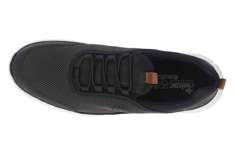 Rieker Sneaker in Übergrößen Schwarz B4891-00 große Herrenschuhe – Bild 7