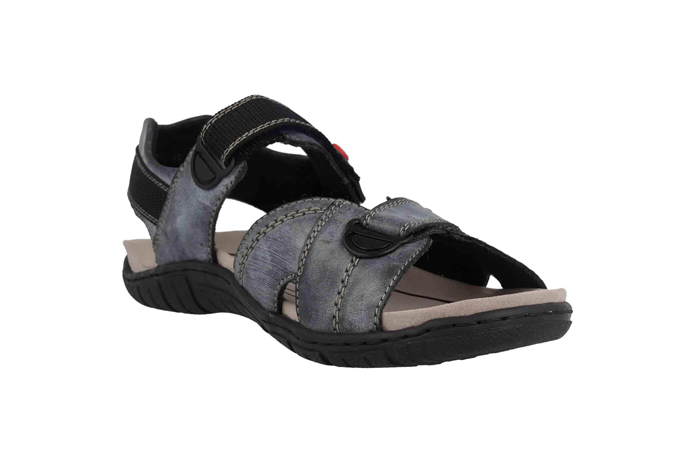Rieker Sandalen in Übergrößen Blau 26851-14 große Herrenschuhe – Bild 5