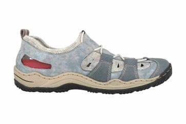 Rieker Sneaker in Übergrößen Blau L0561-12 große Damenschuhe – Bild 4