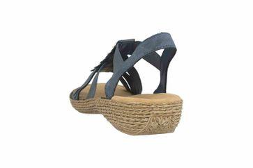 Rieker Sandaletten in Übergrößen Blau 65869-14 große Damenschuhe – Bild 2