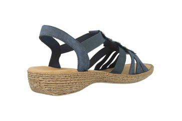 Rieker Sandaletten in Übergrößen Blau 65869-14 große Damenschuhe – Bild 3