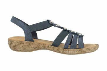 Rieker Sandaletten in Übergrößen Blau 65869-14 große Damenschuhe – Bild 4