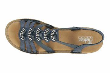 Rieker Sandaletten in Übergrößen Blau 65869-14 große Damenschuhe – Bild 7