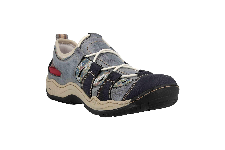 Rieker Sneaker in Übergrößen Blau L0561-14 große Damenschuhe – Bild 5