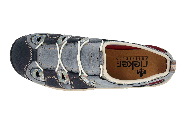 Rieker Sneaker in Übergrößen Blau L0561-14 große Damenschuhe – Bild 7