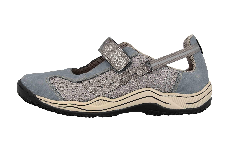 Rieker Sneaker in Übergrößen Blau L0578-12 große Damenschuhe – Bild 1