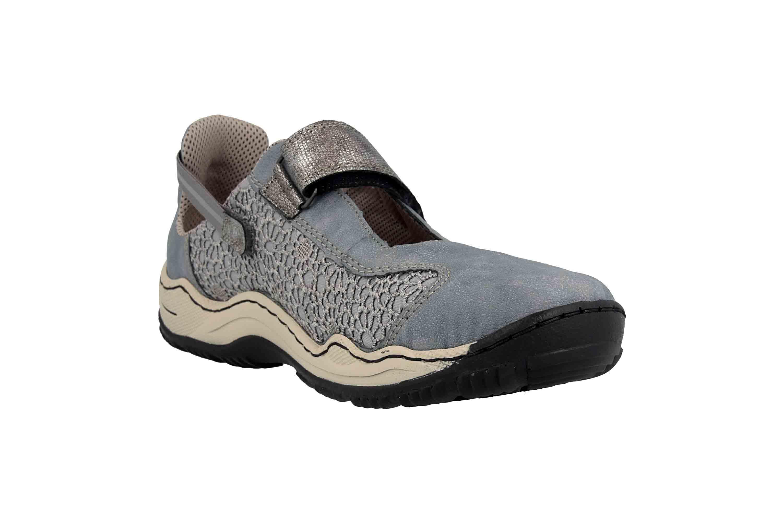 Rieker Sneaker in Übergrößen Blau L0578-12 große Damenschuhe – Bild 5
