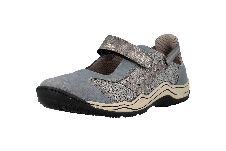 Rieker Sneaker in Übergrößen Blau L0578-12 große Damenschuhe – Bild 6