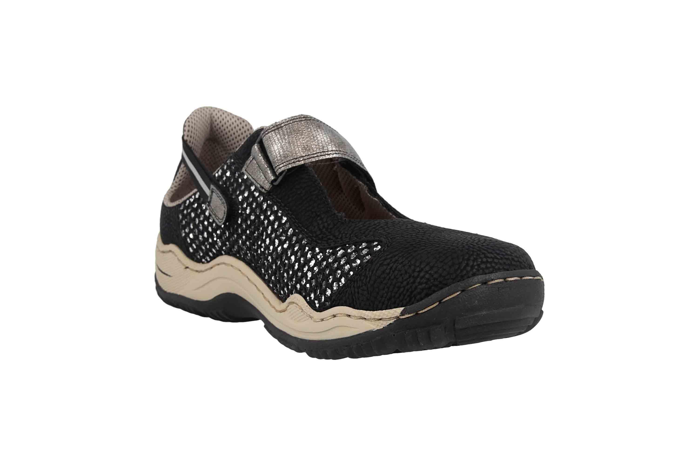 Rieker Sneaker in Übergrößen Schwarz L0578-00 große Damenschuhe – Bild 5