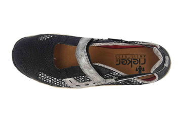 Rieker Sneaker in Übergrößen Schwarz L0578-00 große Damenschuhe – Bild 7