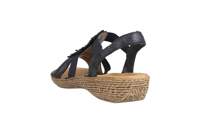 Rieker Sandaletten in Übergrößen Blau 65858-14 große Damenschuhe – Bild 2