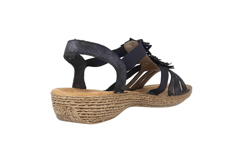 Rieker Sandaletten in Übergrößen Blau 65858-14 große Damenschuhe – Bild 3