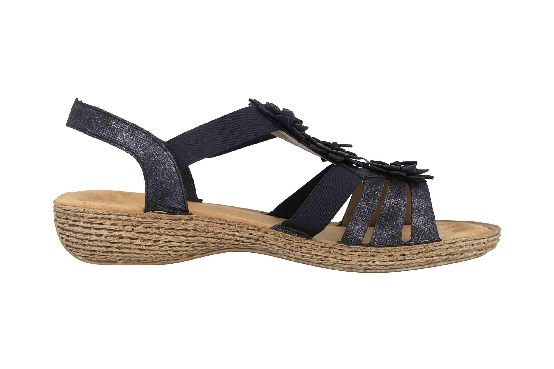 Rieker Sandaletten in Übergrößen Blau 65858-14 große Damenschuhe – Bild 4
