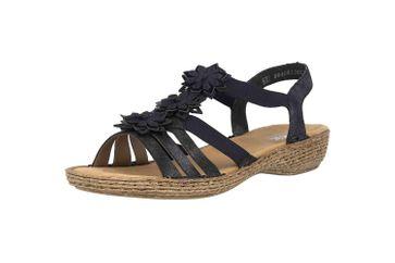 Rieker Sandaletten in Übergrößen Blau 65858-14 große Damenschuhe – Bild 6