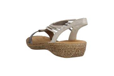 Rieker Sandaletten in Übergrößen Grau 658Y3-90 große Damenschuhe – Bild 2
