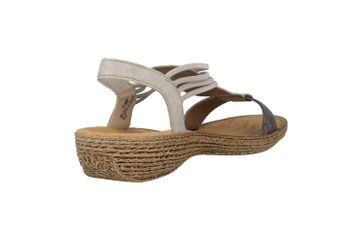 Rieker Sandaletten in Übergrößen Grau 658Y3-90 große Damenschuhe – Bild 3