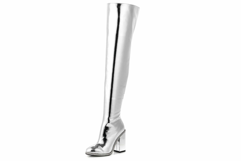 Giaro Stiefel in Übergrößen Silber Freya Liquid Silver große Damenschuhe – Bild 7