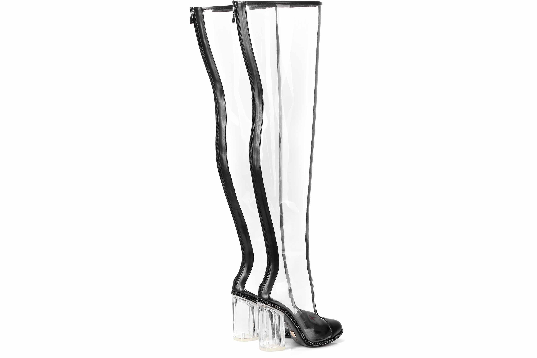 Giaro Stiefel in Übergrößen Transparent Fiona Clear PVC große Damenschuhe – Bild 3